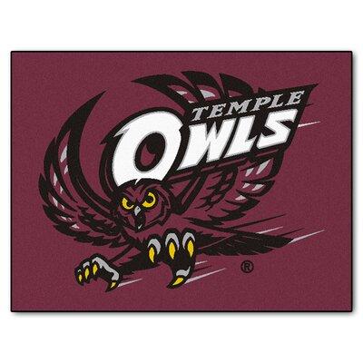 Collegiate All-Star Temple Hand Woven Purple Area Rug