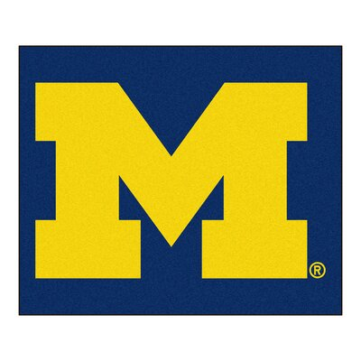 NCAA University of Michigan Indoor/Outdoor Area Rug