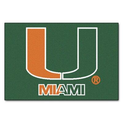 NCAA University of Miami Starter Mat