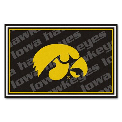 NCAA University of Iowa Rug Rug Size: 310 x 6