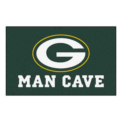 NFL - Green Bay Packers Man Cave Indoor/Outdoor Area Rug Rug Size: 5 x 6