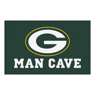 NFL - Green Bay Packers Man Cave Indoor/Outdoor Area Rug Rug Size: 5 x 8
