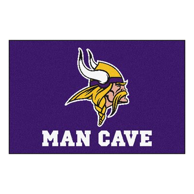 NFL - Minnesota Vikings Man Cave Starter Rug Size: 210 x 37
