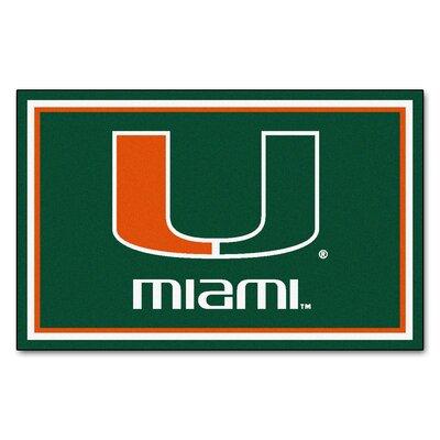 NCAA University of Miami Rug Rug Size: 5 x 78