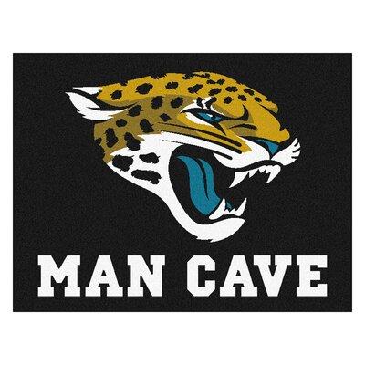 NFL - Jacksonville Jaguars Man Cave Starter Rug Size: 2'10