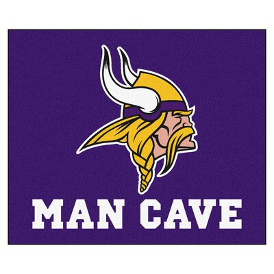 NFL - Minnesota Vikings Man Cave Indoor/Outdoor Area Rug Rug Size: 5 x 6