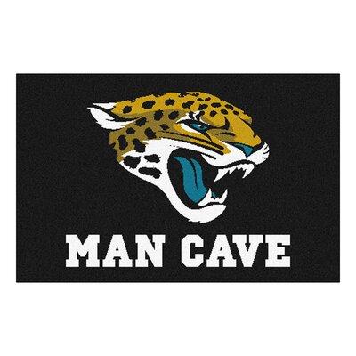 NFL - Jacksonville Jaguars Man Cave Starter Rug Size: 210 x 37