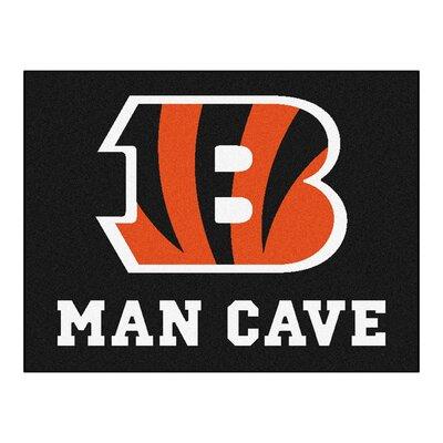 NFL - Cincinnati Bengals Man Cave Starter Rug Size: 17 x 26