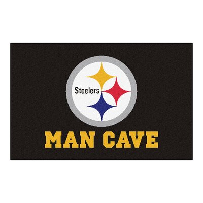 NFL - Pittsburgh Steelers Man Cave Starter Rug Size: 17 x 26