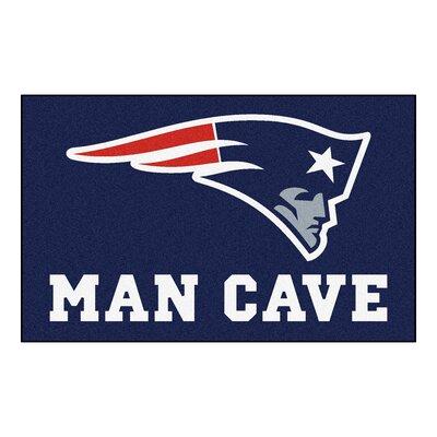 NFL - New England Patriots Man Cave Indoor/Outdoor Area Rug Rug Size: 5 x 8