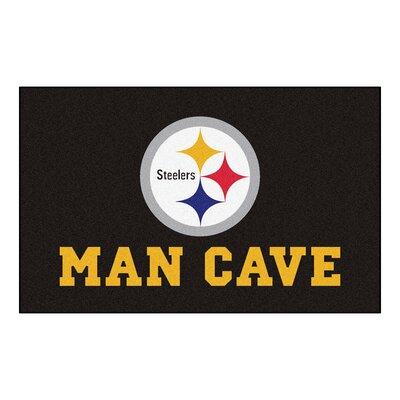 NFL - Pittsburgh Steelers Man Cave Indoor/Outdoor Area Rug Rug Size: 5 x 8