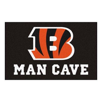 NFL - Cincinnati Bengals Man Cave Indoor/Outdoor Area Rug Rug Size: 5 x 6