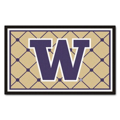 NCAA University of Washington Rug Rug Size: 5' x 7'8