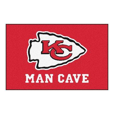 NFL - Kansas City Chiefs Man Cave Starter Rug Size: 210 x 37