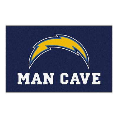 NFL - San Diego Chargers Man Cave Indoor/Outdoor Area Rug Rug Size: 5 x 6
