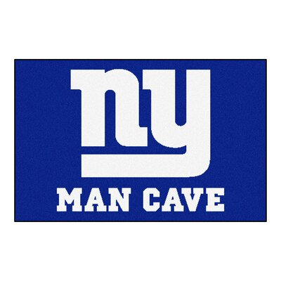 NFL - New York Giants Man Cave Starter Rug Size: 210 x 37