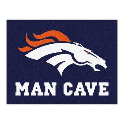 NFL - Denver Broncos Man Cave Starter Rug Size: 17 x 26