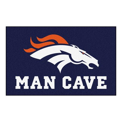 NFL - Denver Broncos Man Cave Indoor/Outdoor Area Rug Rug Size: 5 x 8