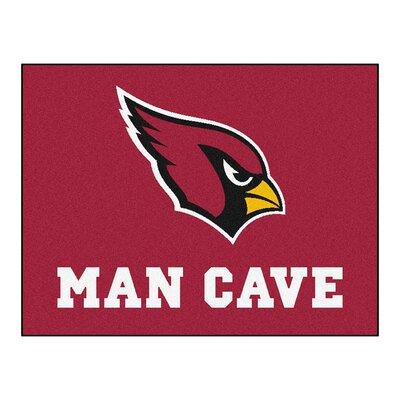 NFL - Arizona Cardinals Man Cave Starter Rug Size: 17 x 26
