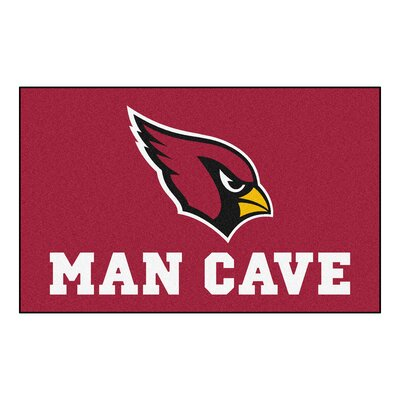 NFL - Arizona Cardinals Man Cave Indoor/Outdoor Area Rug Rug Size: 5 x 8