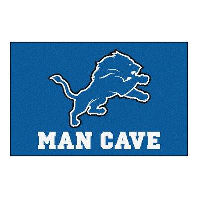 NFL - Detroit Lions Man Cave Starter Rug Size: 210 x 37