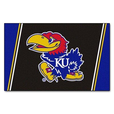 NCAA University of Kansas Rug Rug Size: 5 x 78