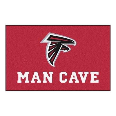 NFL - Atlanta Falcons Man Cave Indoor/Outdoor Area Rug Rug Size: 5 x 6