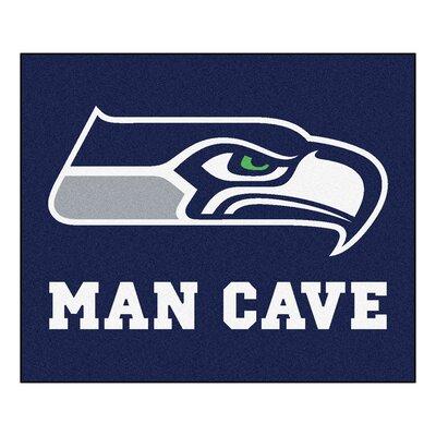 NFL - Seattle Seahawks Man Cave Indoor/Outdoor Area Rug Rug Size: 5 x 6