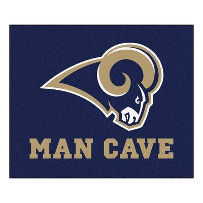 NFL - Los Angeles Rams Man Cave Indoor/Outdoor Area Rug Rug Size: 5 x 6