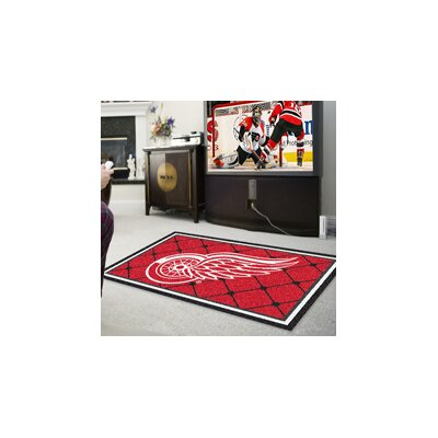 NHL - Detroit Red Wings Rug Rug Size: 5 x 78