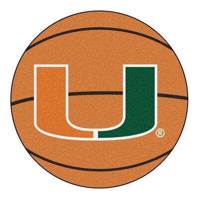 NCAA University of Miami Basketball Mat