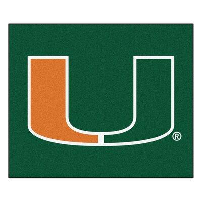 NCAA University of Miami Indoor/Outdoor Area Rug