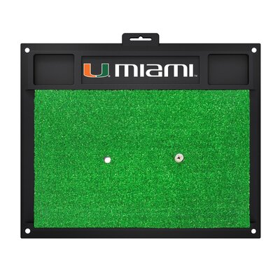 NCAA University of Miami Golf Hitting Mat
