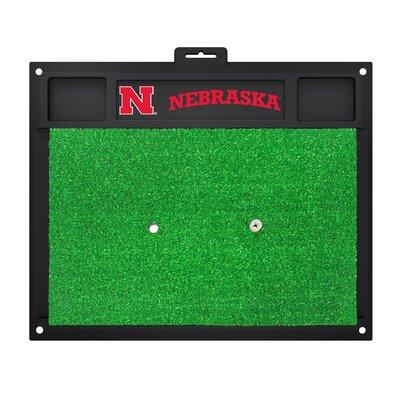 NCAA University of Nebraska Golf Hitting Mat