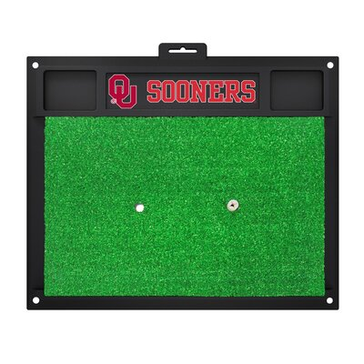 NCAA University of Oklahoma Golf Hitting Mat