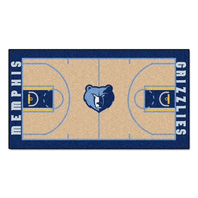 NBA - Memphis Grizzlies NBA Court Runner Doormat Rug Size: 2 x 38
