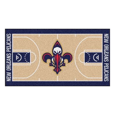 NBA - New Orleans Pelicans NBA Court Runner Doormat Rug Size: 2 x 38