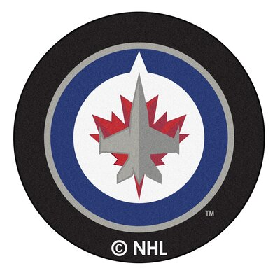 NHL Puck Doormat NHL: Winnipeg Jets Puck Mat