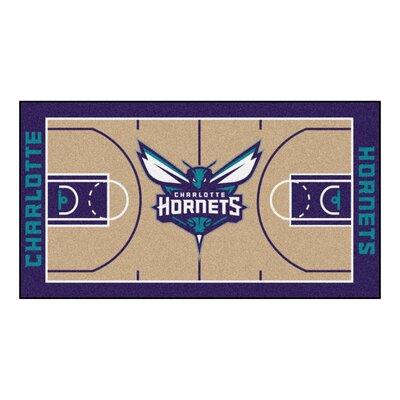 NBA - Charlotte Hornets NBA Court Runner Doormat Mat Size: 25.5 x 46