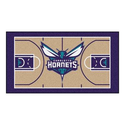 NBA - Charlotte Hornets NBA Court Runner Doormat Mat Size: 2 x 38