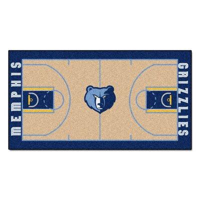 NBA - Memphis Grizzlies NBA Court Runner Doormat Rug Size: 25.5 x 46