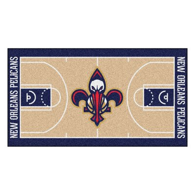 NBA - New Orleans Pelicans NBA Court Runner Doormat Rug Size: 25.5 x 46