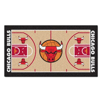 NBA - Chicago Bulls NBA Court Runner Doormat Mat Size: 2 x 38
