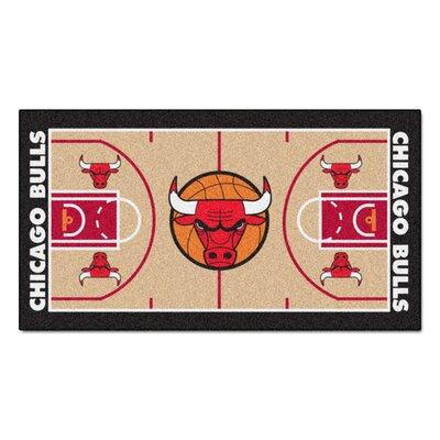 NBA - Chicago Bulls NBA Court Runner Doormat Rug Size: 2 x 38