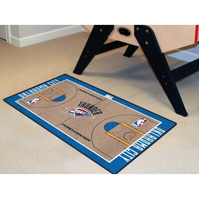 NBA - Oklahoma City Thunder NBA Court Runner Doormat Rug Size: 2 x 38