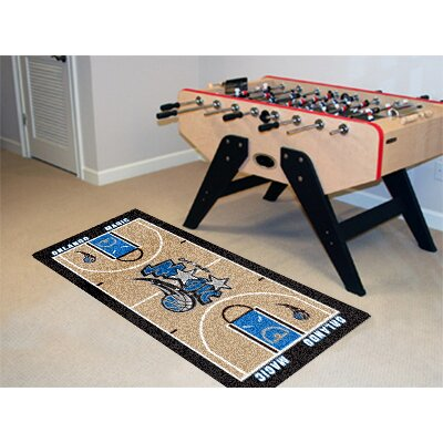 NBA - Orlando Magic NBA Court Runner Doormat Rug Size: 25.5 x 46