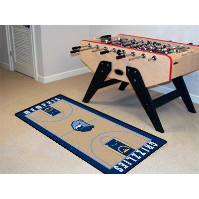 NBA - Memphis Grizzlies NBA Court Runner Doormat Rug Size: 2 x 38