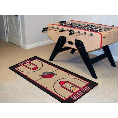 NBA - Portland Trail Blazers NBA Court Runner Doormat Rug Size: 25.5 x 46