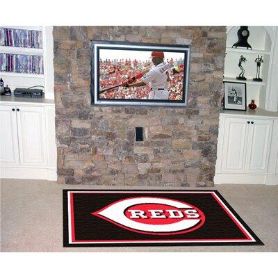 Fanmats MLB Cincinnati Reds Mat - Rug Size: 5' x 8'
