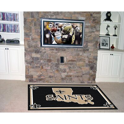 NFL - New Orleans Saints 4x6 Rug Rug Size: 4 x 6